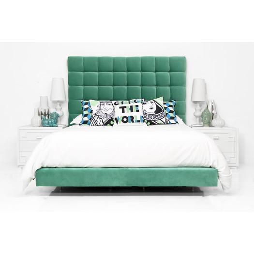 Slub Velvet Orianna Bed In Mint