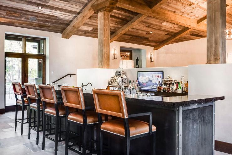 Country Style Wet Bar Design Ideas