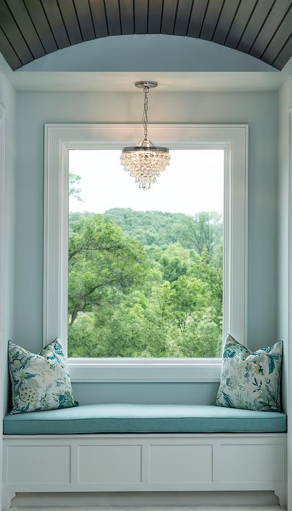 Blue Window Seat Nook With Barrel Ceiling And Clarissa