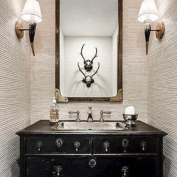 Small Country Powder Room Design Ideas