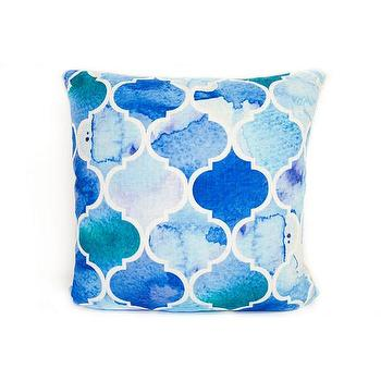Cabana Geometric Pillow - Cobalt I Pier 1