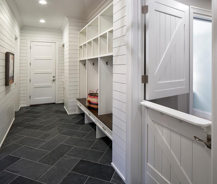 Laundry rooms dutch kitchen door design ideas for Mudroom floor