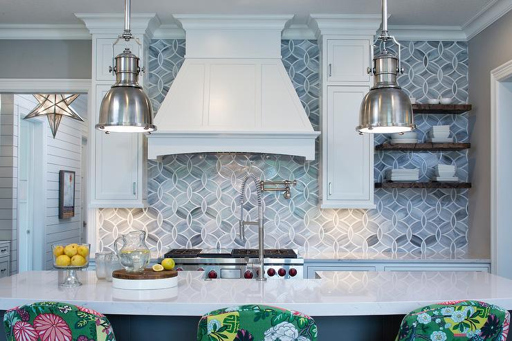 Gray Green Kitchen Cabinets With White Countertops