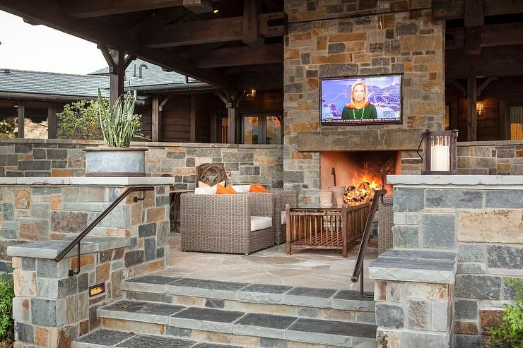 Covered Patio Fireplace Design Ideas