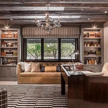 country home office. Country Home Office With Plank Ceiling