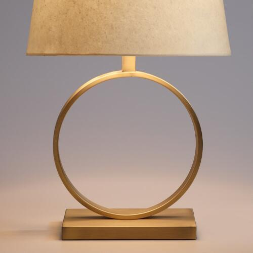 Circular Brass Table Lamp Base
