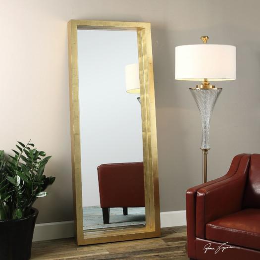 Product Details Gold Capiz Floor Mirror