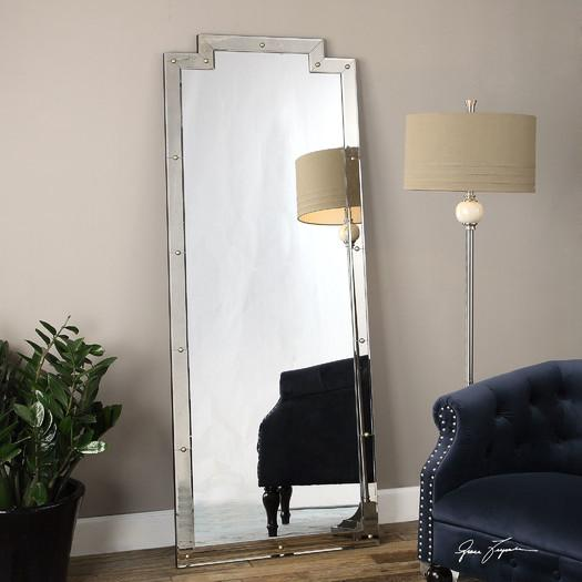 Daphne wall mirror ballard designs for Leaning wall mirror