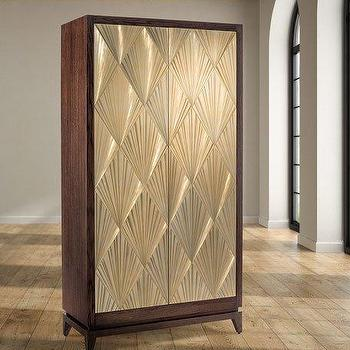 Gold and Brown Diamond Etched Doors Armoire & Gold Doors Armoire - Products bookmarks design inspiration and ideas.