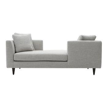 The Sandra Napper Double Gray Contemporary Chaise