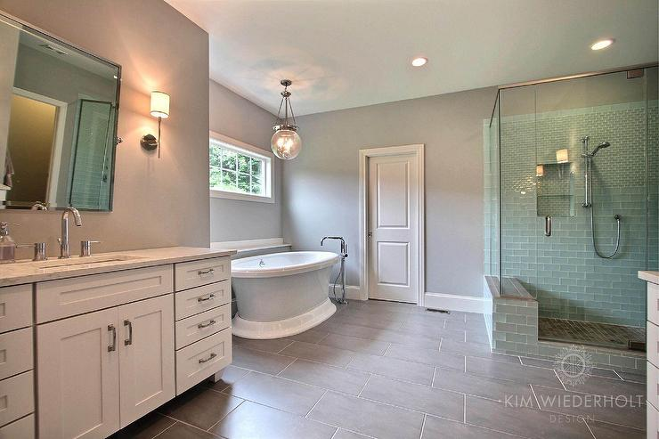 Transitional Bathroom Sherwin Williams Light French Gray