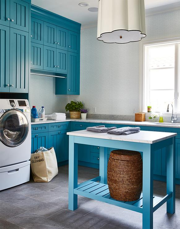 White Laundry Room Cabinets With Stainless Steel Apron