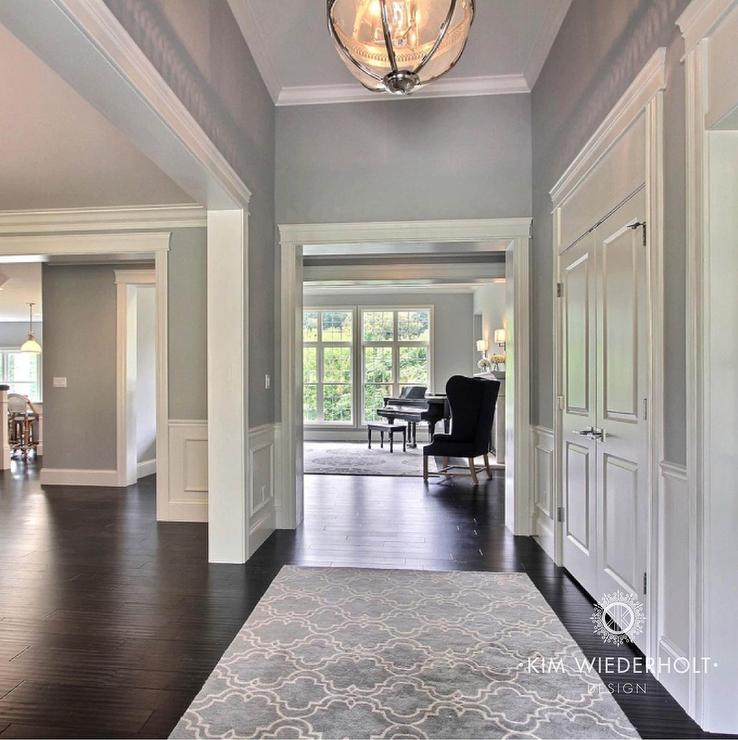 Transitional entrance foyer sherwin williams light for Foyer paint color decorating ideas