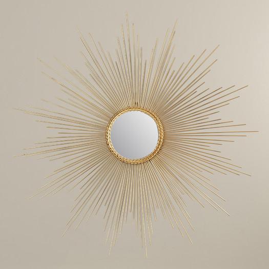 small gold sunburst mirror