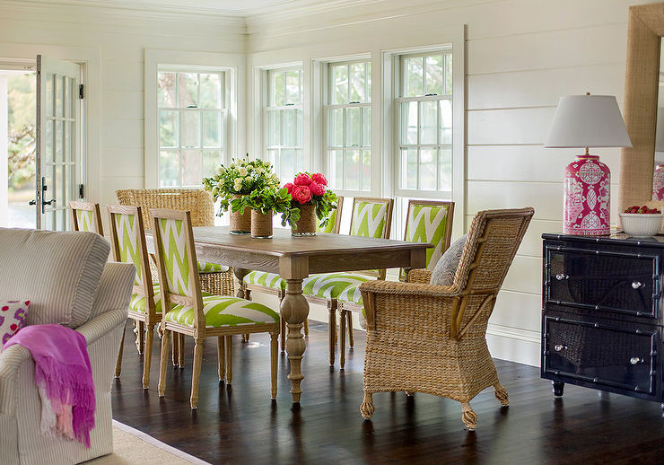 White Bamboo Dining Room Chairs