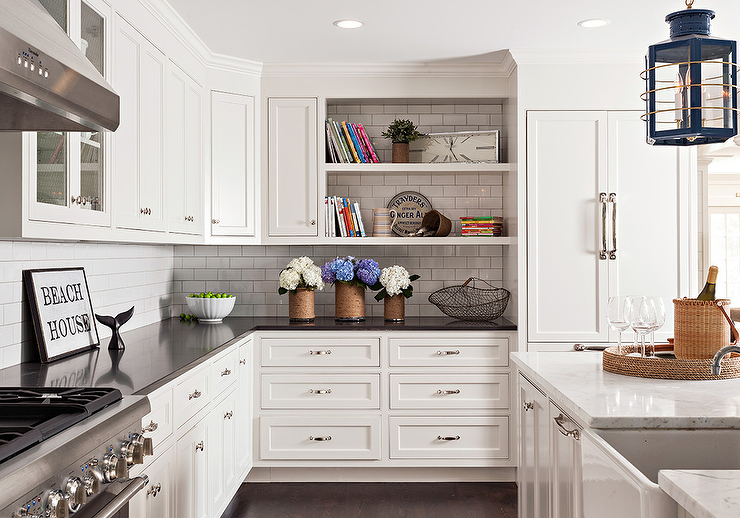white kitchen cabinets with mixed countertops view full size - Kitchen With White Cabinets