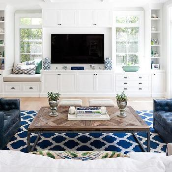 Gray Tv Cabinets With Gray Fabric Panel Doors