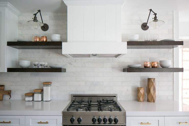 Marble Kitchen Shelves Contemporary Kitchen Cameron