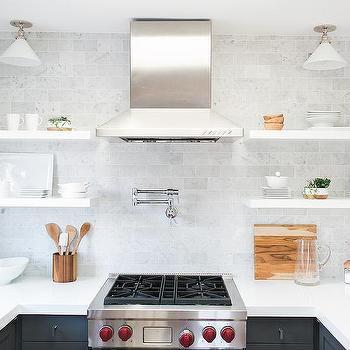 Stained Oak Kitchen Vent Hood Transitional Kitchen
