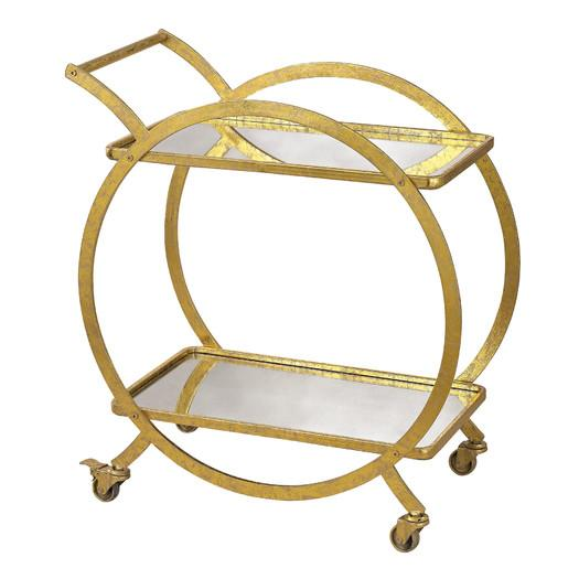 Caprice Metal Bar Cart Pottery Barn