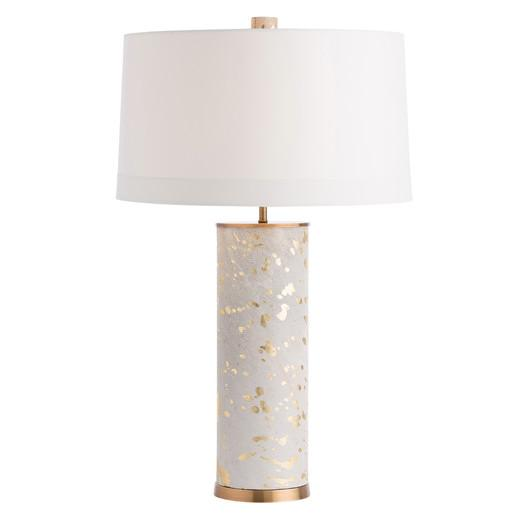White Hide Gold Splattered Table Lamp