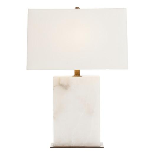 white marble and shade table lamp small white and brass pillar table. Black Bedroom Furniture Sets. Home Design Ideas