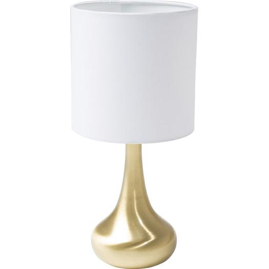 Exceptional White Shade Gold Teardrop Body Table Lamp