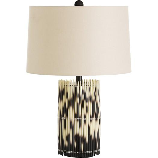 Black And White Resin Sticks Table Lamp