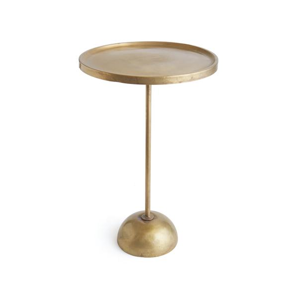 Brand-new Antique Gold Round Pedestal Table BA73