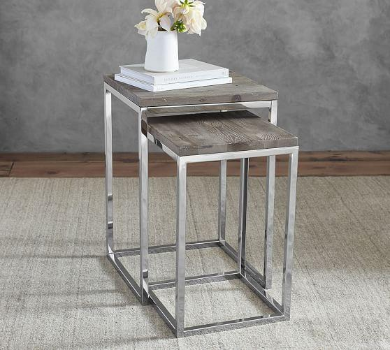 Faceted Woodblock Side Table Urban Outfitters