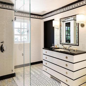 Black And White Chevron Wall Tiles Design Ideas