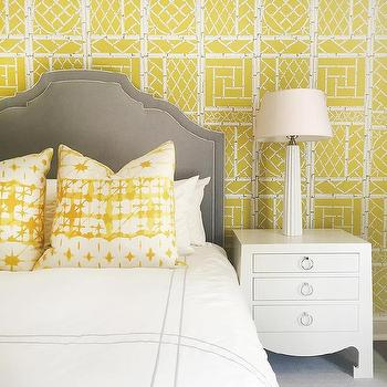 Yellow And Gray Wallpaper Design Ideas