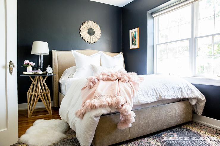 Best Black and Beige Bedroom with Pink Accents - Contemporary - Bedroom CY21