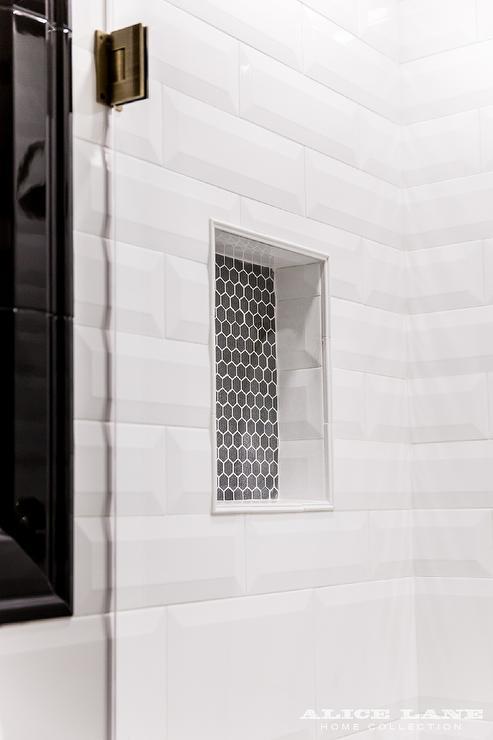 Grey Linear Tiles Bathroom