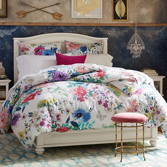 Colorful Floral Bouquet Duvet Cover And Sham