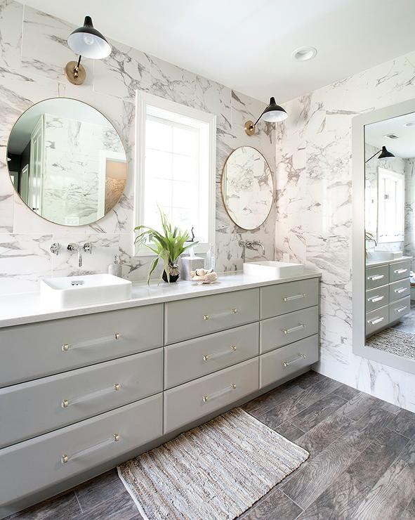 Gold Framed Bathroom Mirrors gray framed bathroom wall mirror design ideas