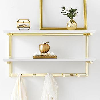 Gold Frame Wall Shelf - Products, bookmarks, design, inspiration and ...