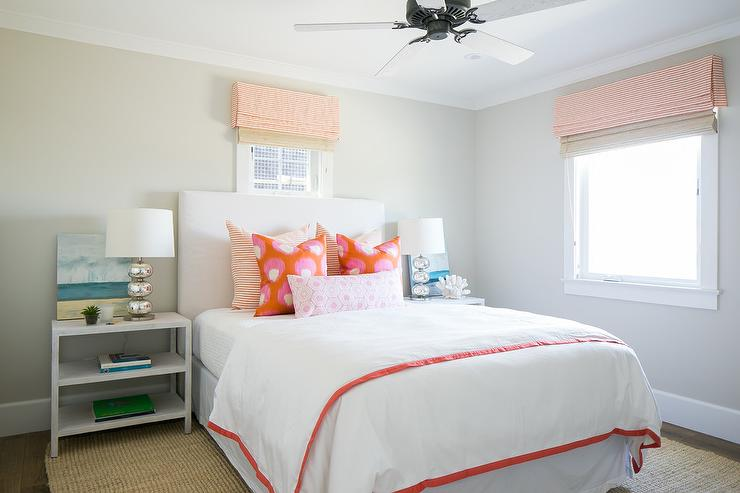 Pink and Orange Bedroom Accents - Transitional - Bedroom