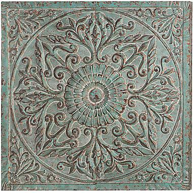 Distressed Wall Decor medallion metal wall art