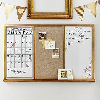 gold framed triple study wall board - Wall Board Ideas