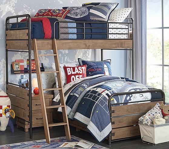 Brown Rustic Twin Bed Set