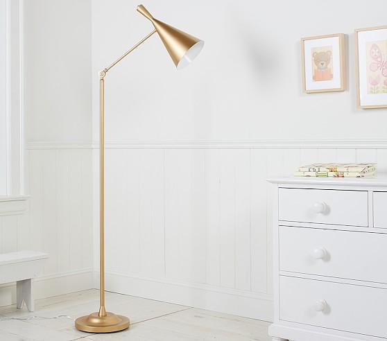 Cone angled base floor lamp gold cone angled base floor lamp audiocablefo