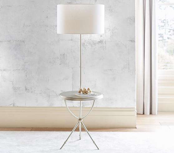 Table silver and white floor lamp tripod table silver and white floor lamp audiocablefo