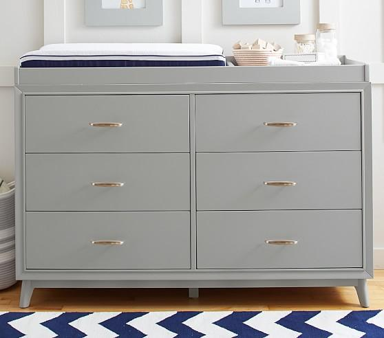 Gray Extra Wide Dresser And Topper Set