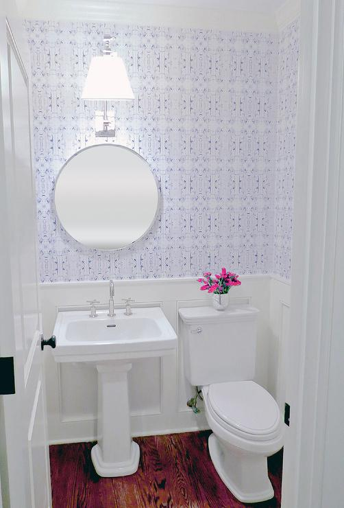 Transitional Bathroom Benjamin Moore Bright White