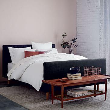 Indigo Blue Upholstered Bed