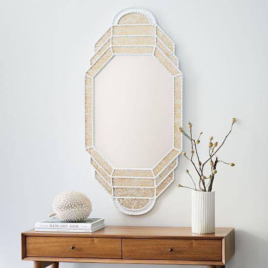 Octagon Shaped Paneled Mirror