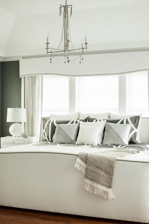 Blue trellis rug contemporary nursery the elegant abode for Bedroom cornice design