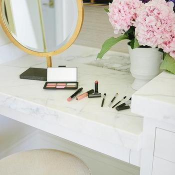 gold makeup vanity table. Marble Top Makeup Vanity with Gold Mirror Built In Design Ideas