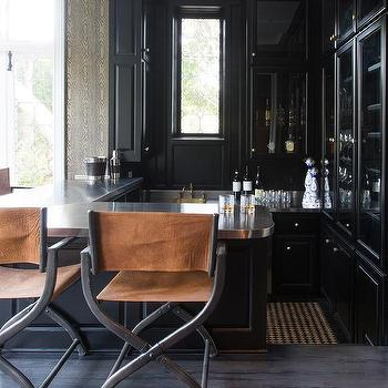 Black Wet Bar Island Design Ideas